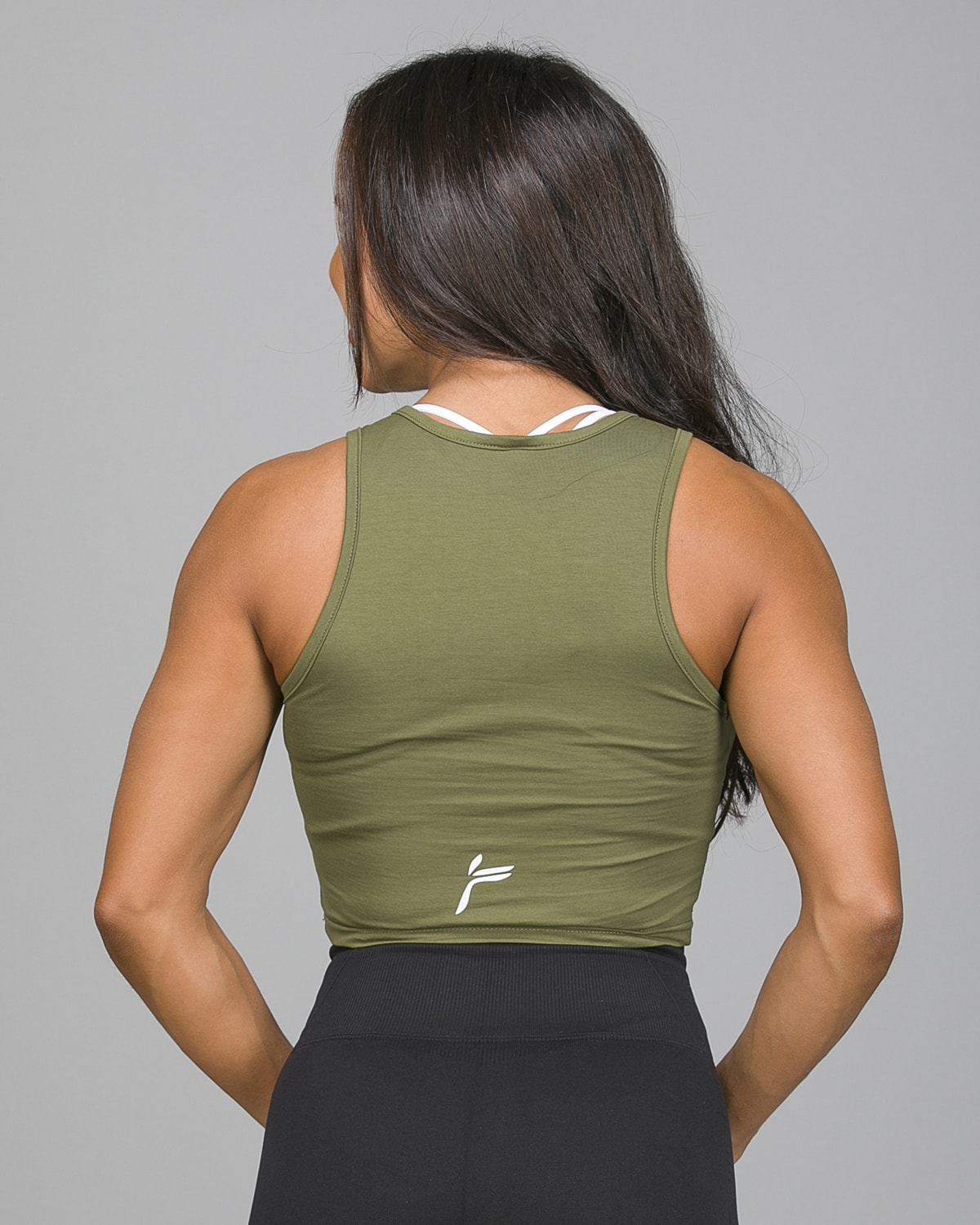 Famme Pure Crop Top Army Green PCT-AG e