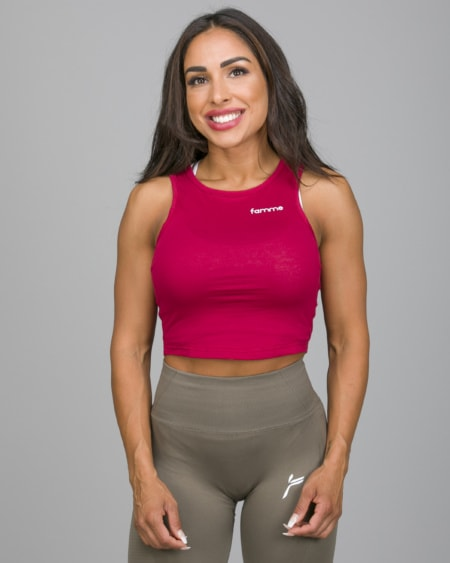 Famme Pure Crop Top Dark Red PCT-DR
