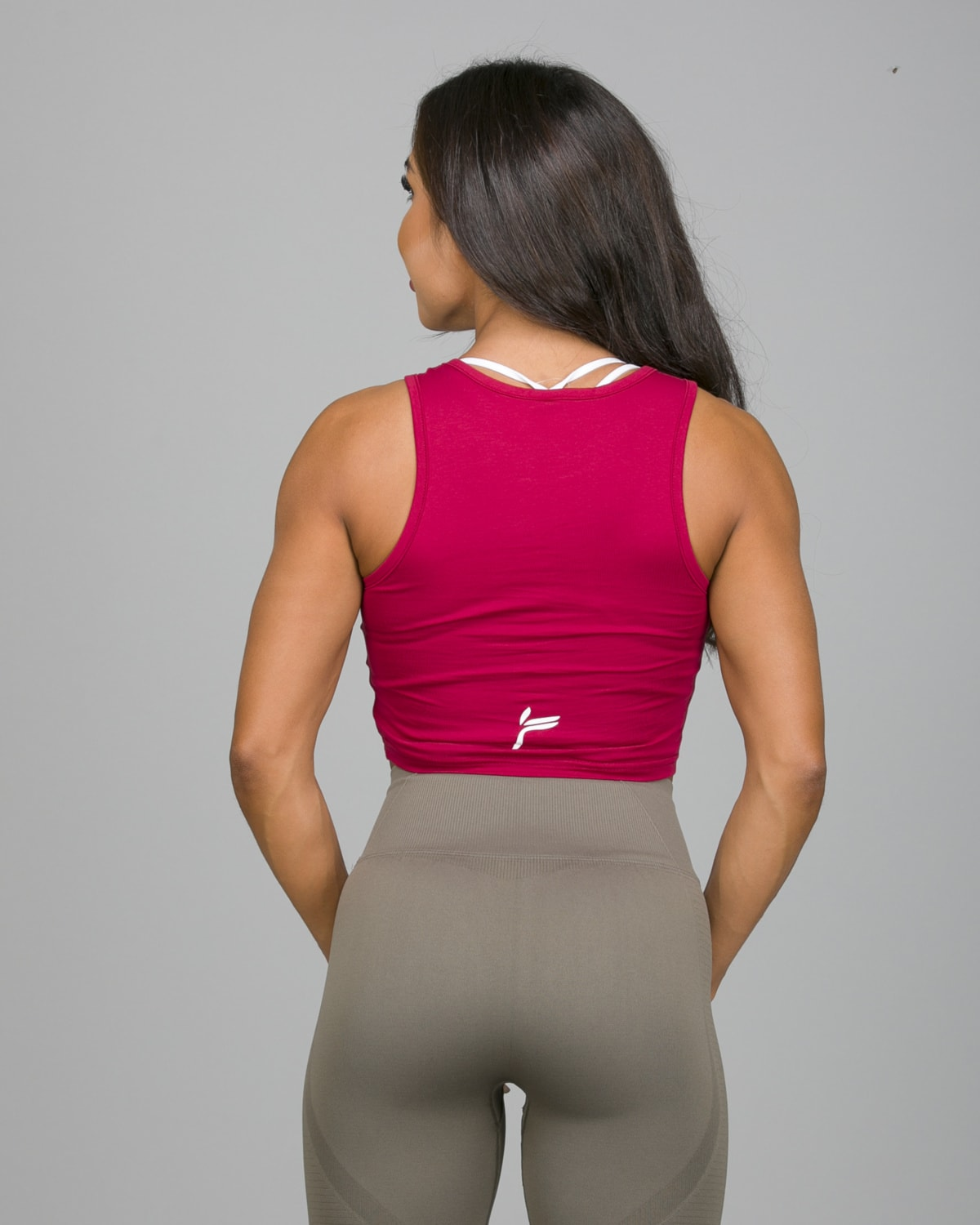 Famme Pure Crop Top Dark Red PCT-DR e