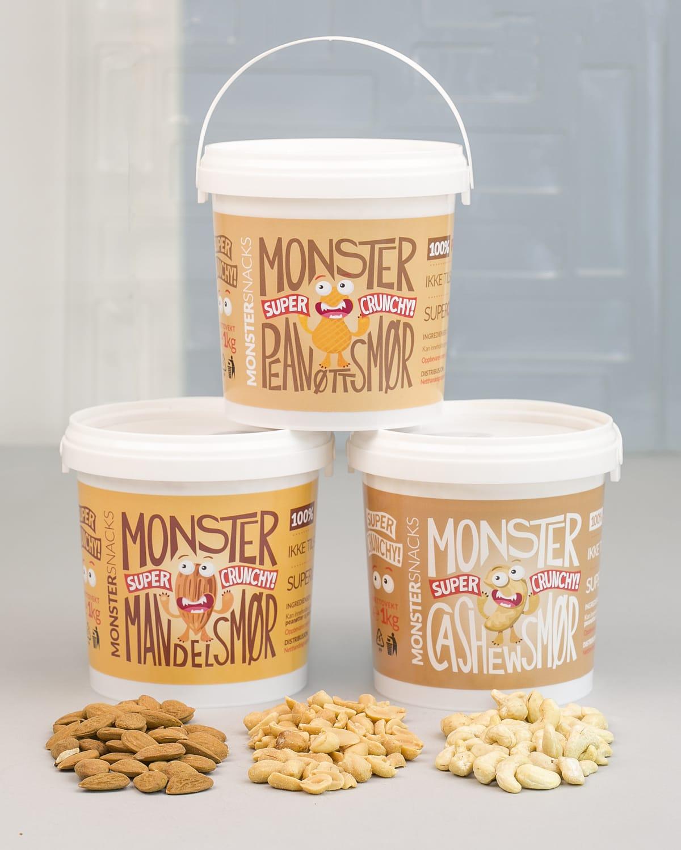 Monster nøttesmør smaks pakke