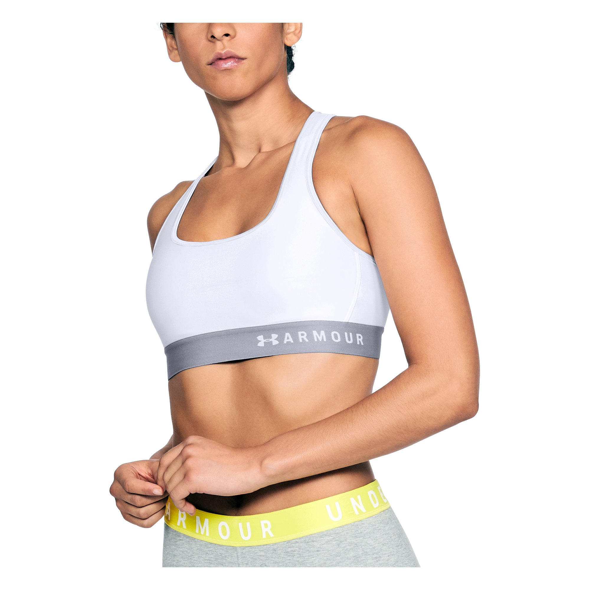 Under Armour Mid Crossback Bra 1307200-100_FC_Main
