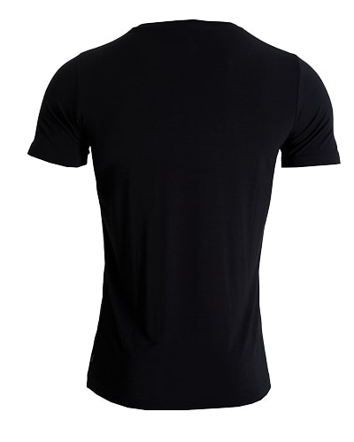 38-730 Tufte Men Essentials Crew Neck Tee Black Small Back