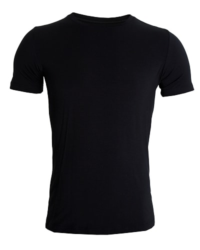 38-730 Tufte Men Essentials Crew Neck Tee Black Small Front