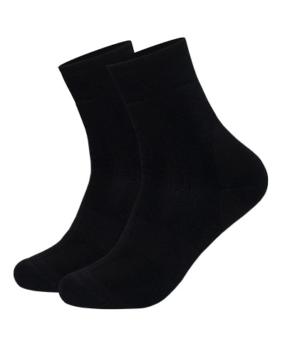 39-126 Tufte Crew Sock Black 36-39