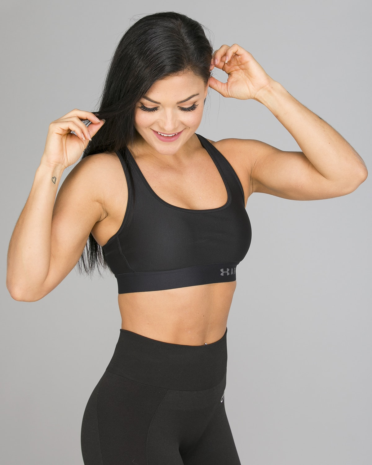 Under Armour Mid Crossback Bra, Black4