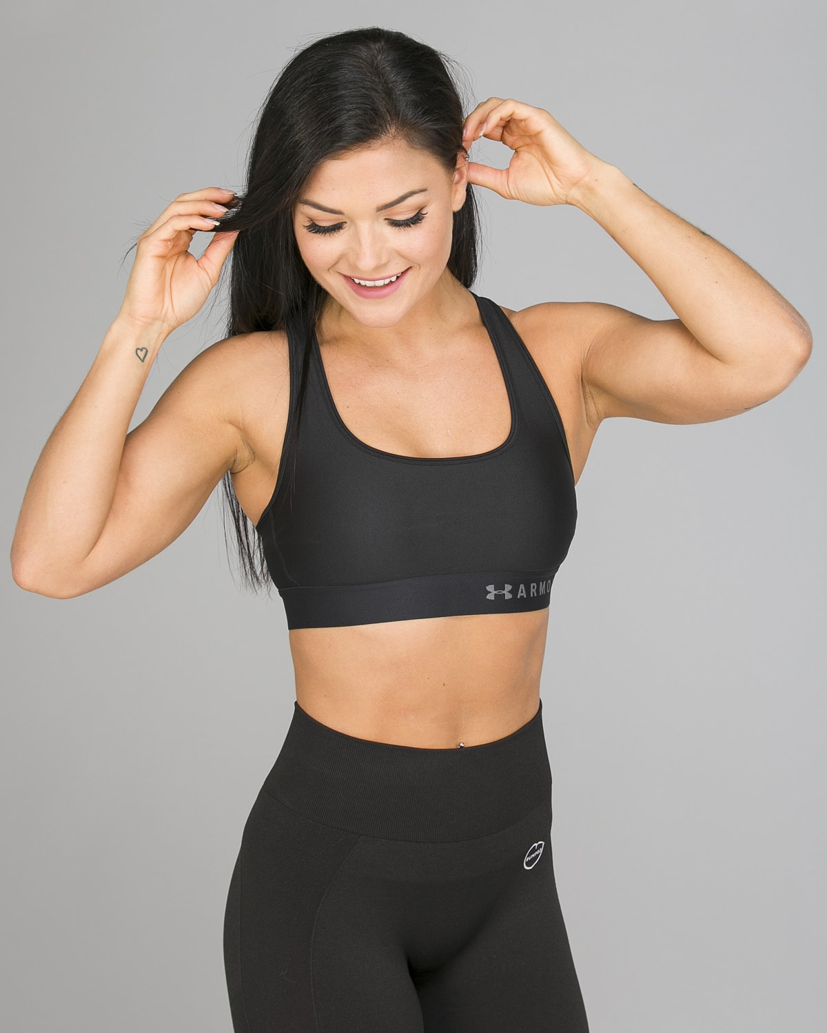 Under Armour Mid Crossback Bra, Black5