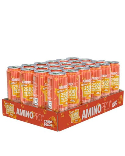 Amino Pro Candy Edition Peach Candy 24x330ml - GODTERISMAK!