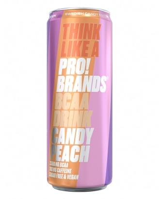 Amino Pro Candy Edition Peach Candy 330ml - GODTERISMAK!