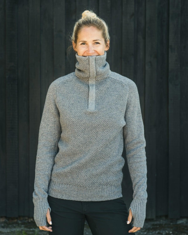 AW17 Tufte Bambull Blend Sweater GreyMelange Adult 01_vegg