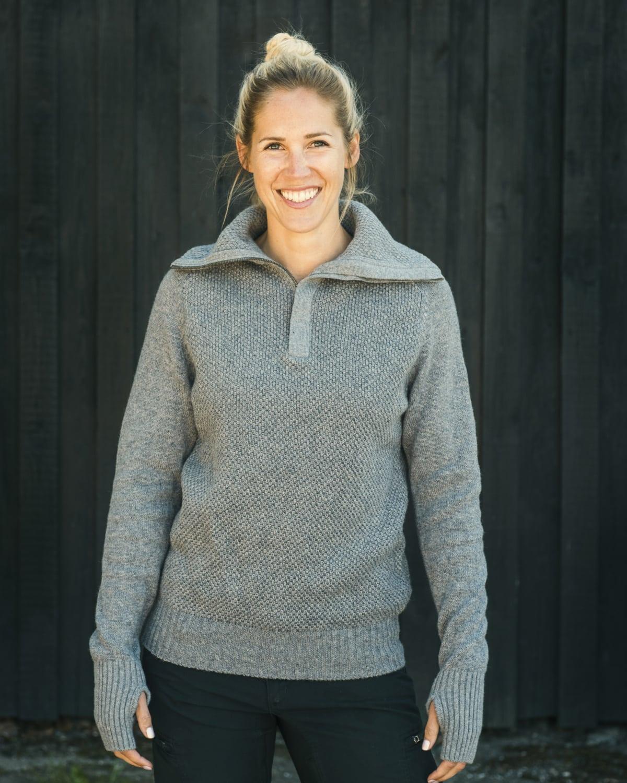 AW17 Tufte Bambull Blend Sweater GreyMelange Adult 02_vegg