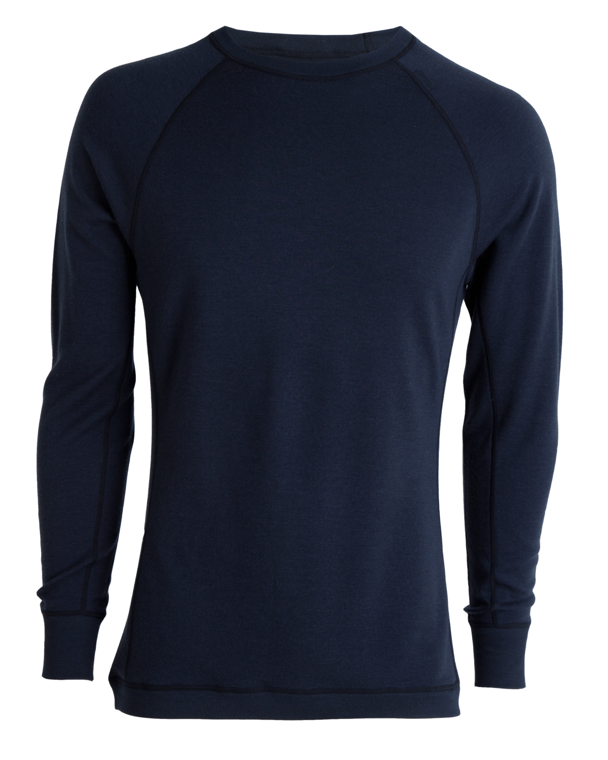 AW18 Tufte Bambull Crew Neck Men Blueberry Front