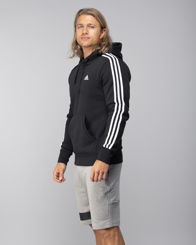 Adidas-Classics-3S-Pullover-Fleece–Black-White1