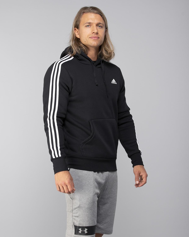 Adidas-Classics-3S-Pullover-Fleece–Black-White3