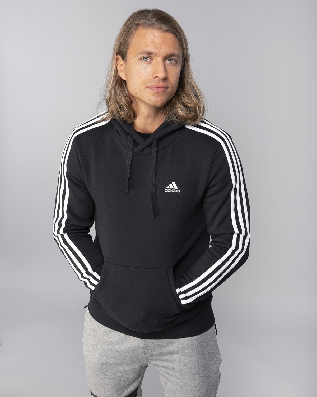 Adidas-Classics-3S-Pullover-Fleece–Black-White4