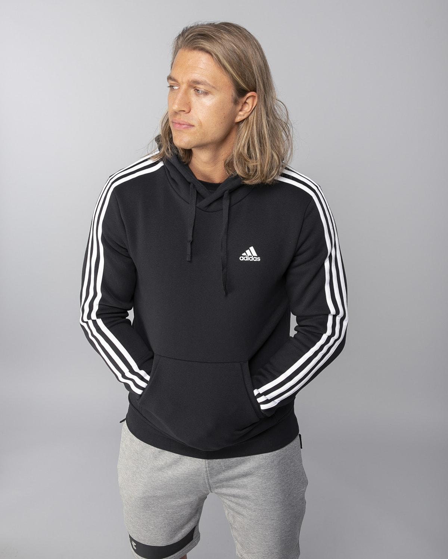 Adidas-Classics-3S-Pullover-Fleece–Black-White5