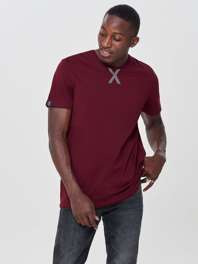 First Ray Loose Tee 15154276-Cabernet c