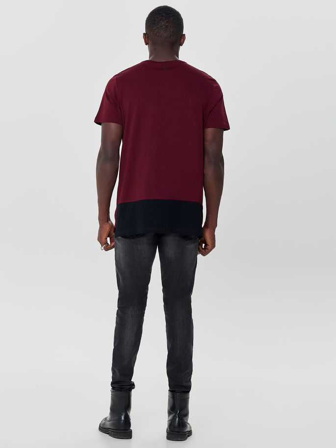 First Ray Loose Tee 15154276-Cabernet d