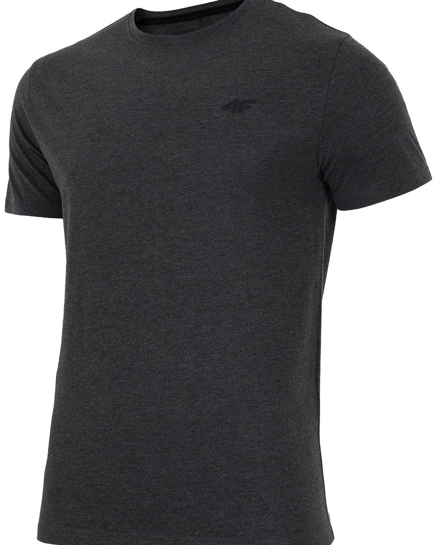 4F T-Shirt Men – Dark Grey Melange X4Z18-TSM300