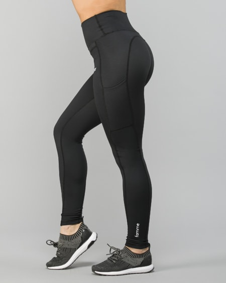FAMME - Techna Tights - CHARCOAL