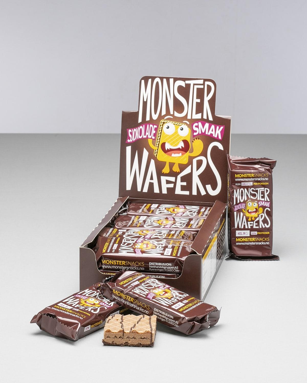 Monster Sjokolade Waffers