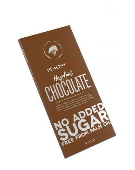 HealthyCo Sukkerfri Hasselnøttsjokolade 100g