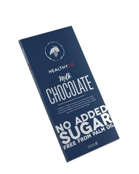 HealthyCo Sukkerfri Melkesjokolade 100g