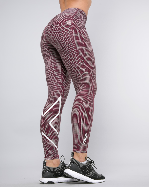 2XU-Print-Mid-Rise-Comp-Tights-W–Brick-Pink-White8