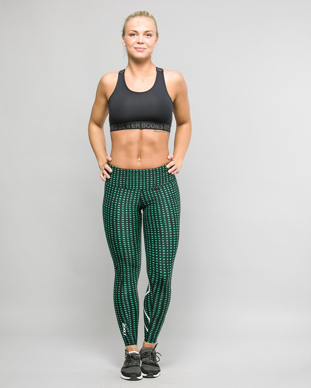 2XU-Print-Mid-Rise-Comp-Tights-W–Golf-Green-Urban-Grid-White5