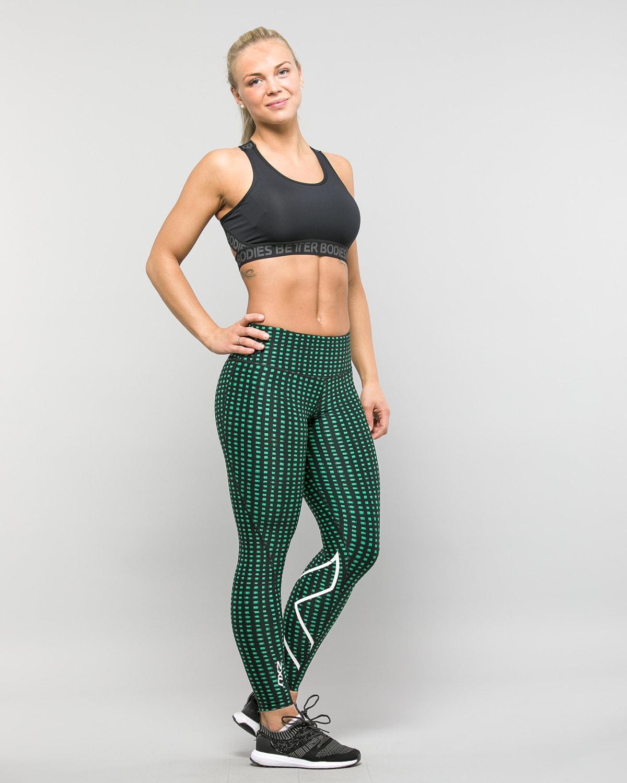 2XU-Print-Mid-Rise-Comp-Tights-W–Golf-Green-Urban-Grid-White6