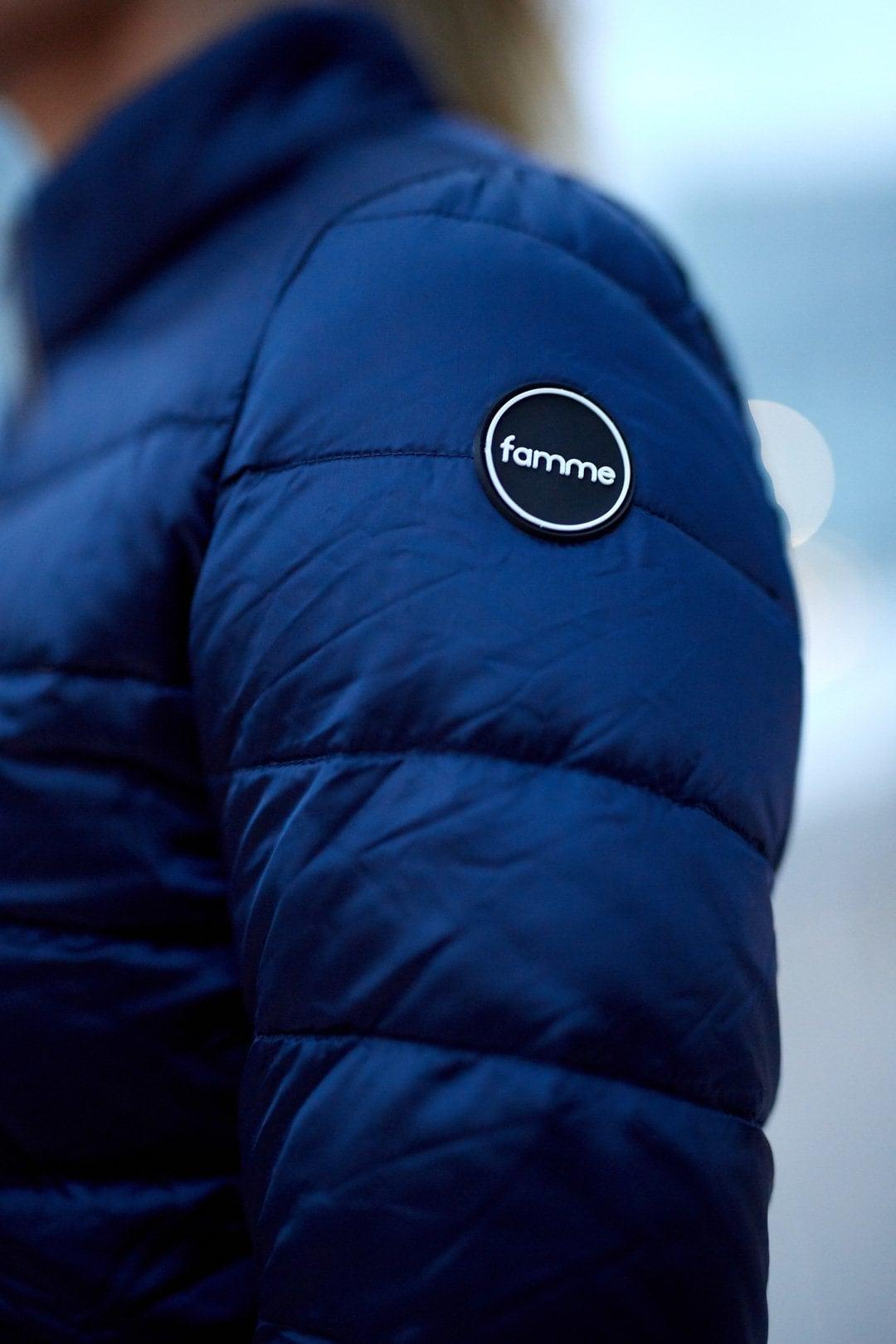 FAMME Navy Blue Caliente Jacket citj-nb e