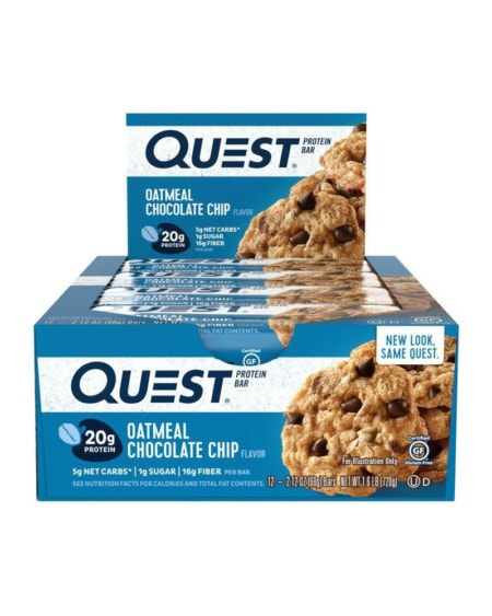 Bars Oatmeal Chocolate Chip 12x60g