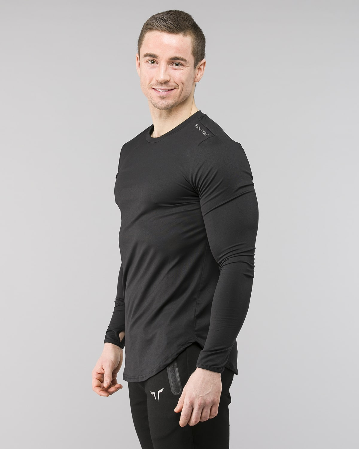 Squat Wolf Muscle Tee Black 2