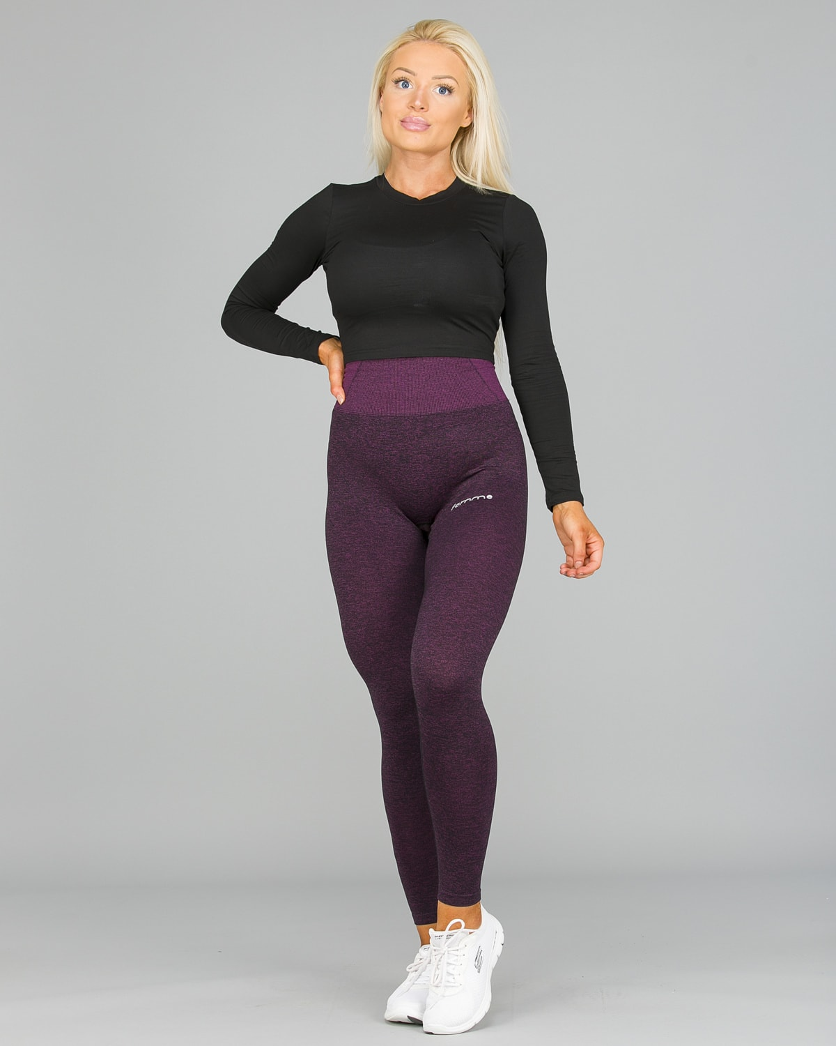 FAMME Lavender Seamless Essential Tights11