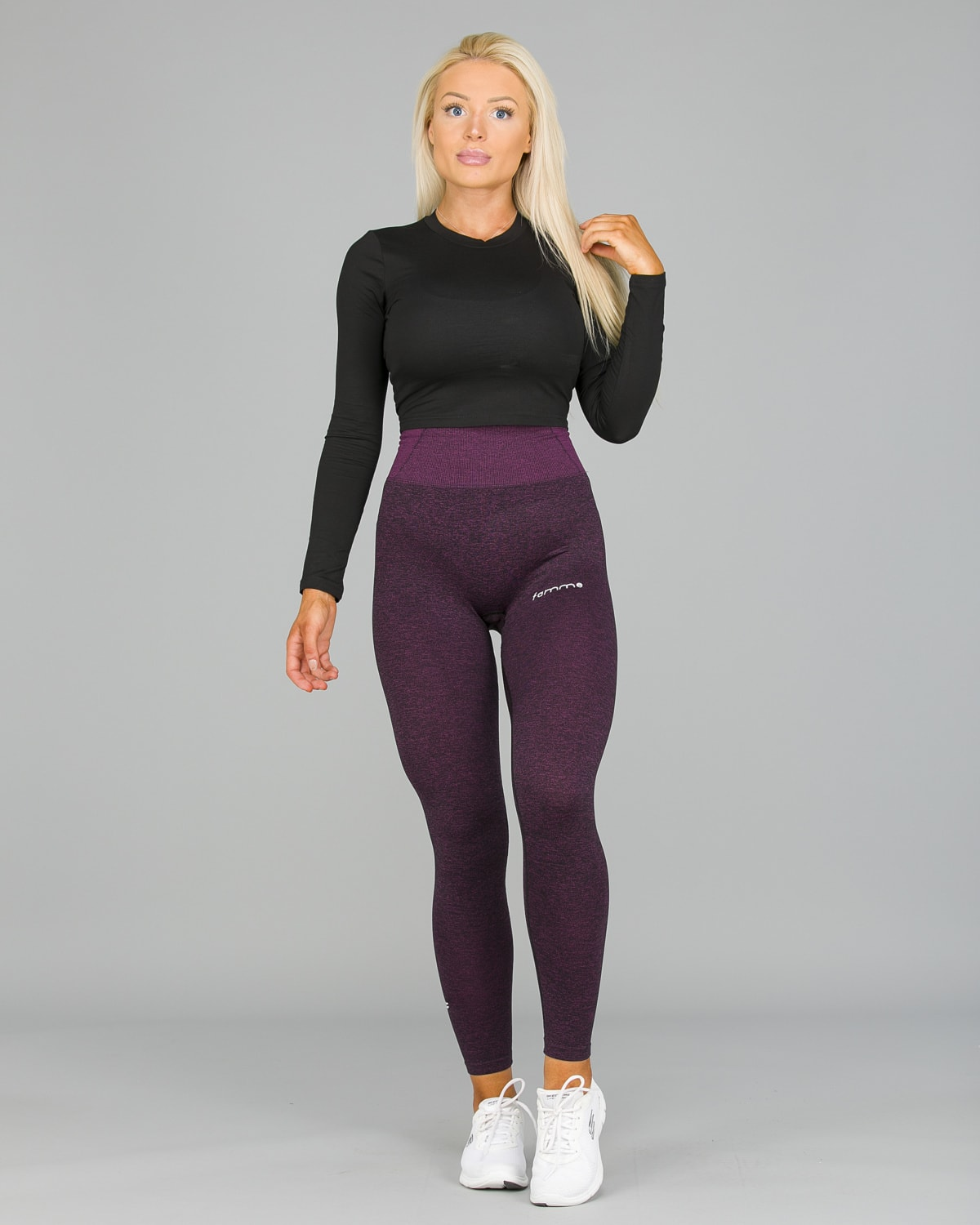 FAMME Lavender Seamless Essential Tights12