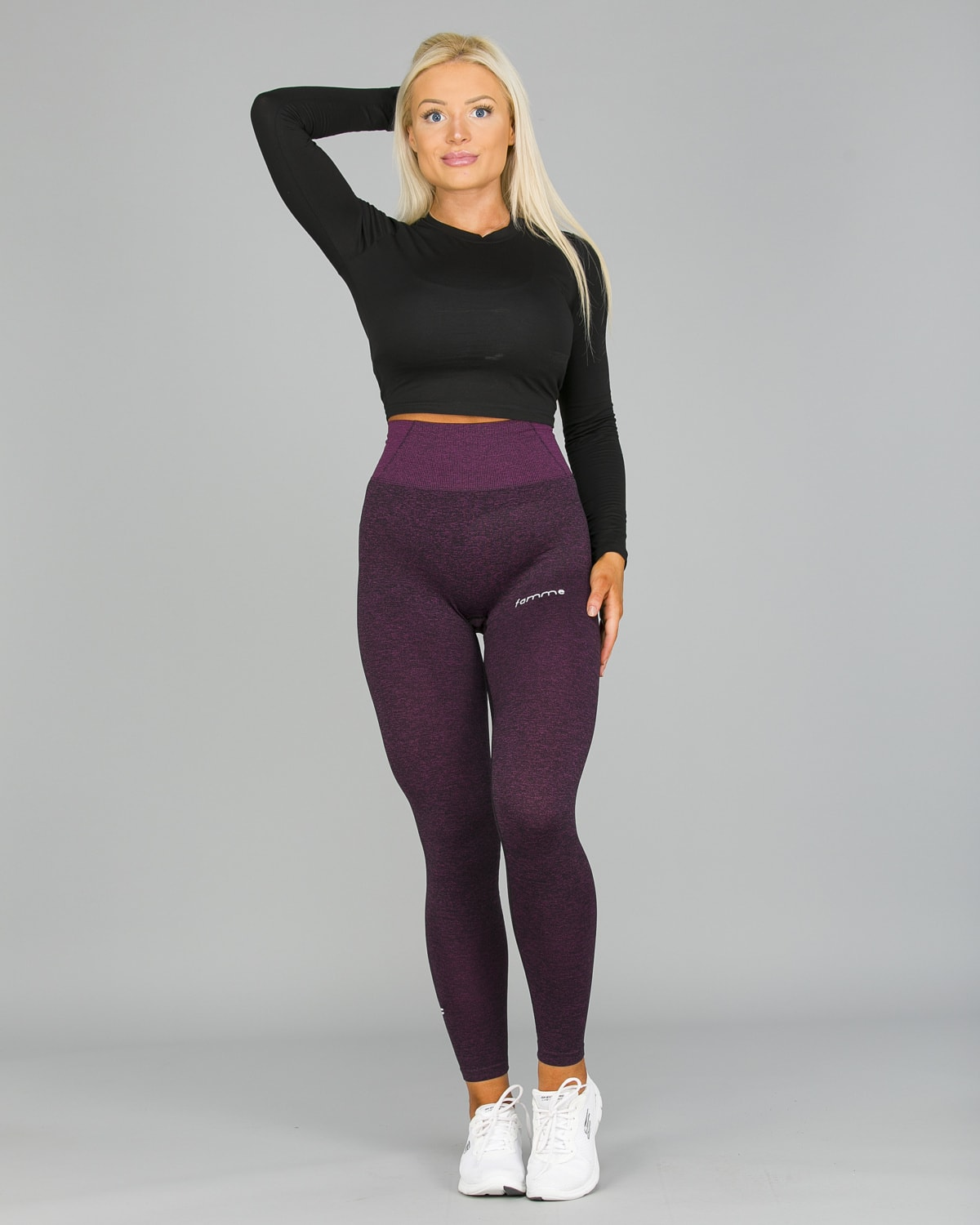 FAMME Lavender Seamless Essential Tights13