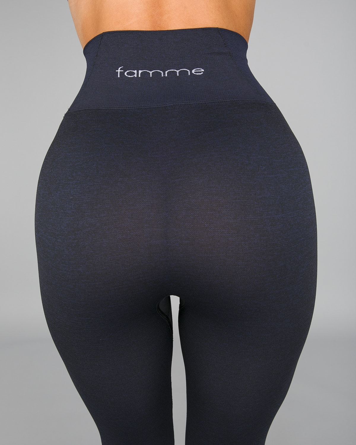 FAMME Shadow Blue Seamless Essential Tights9