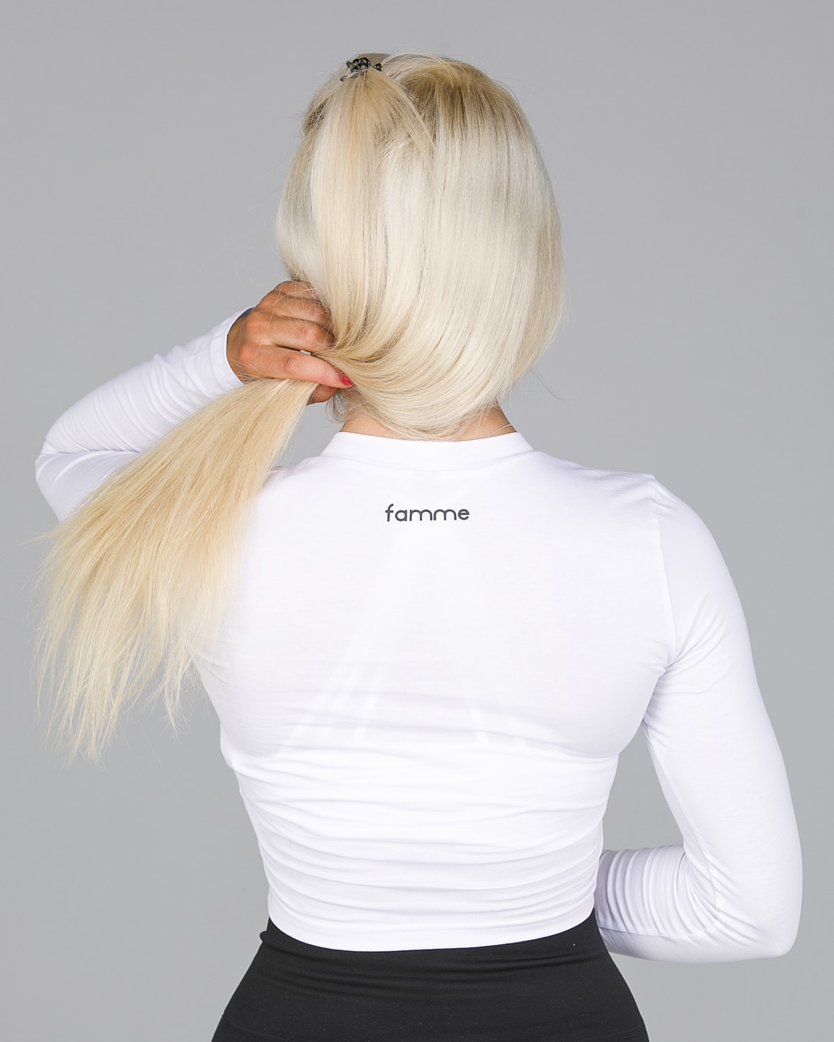 FAMME White Pure Crop Long Sleeve6
