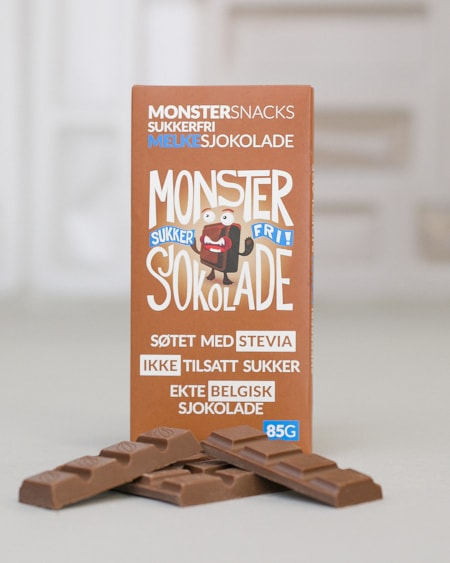 Belgisk Stevia Melkesjokolade 85g - FORBEDRET SMAK!