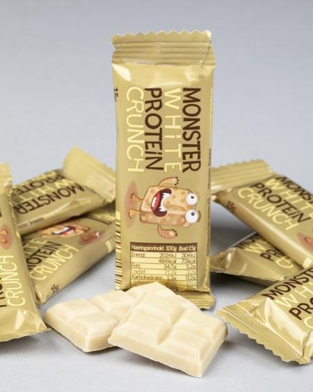 Monster Sukkerfri Belgisk Hvit Sjokolade 85g