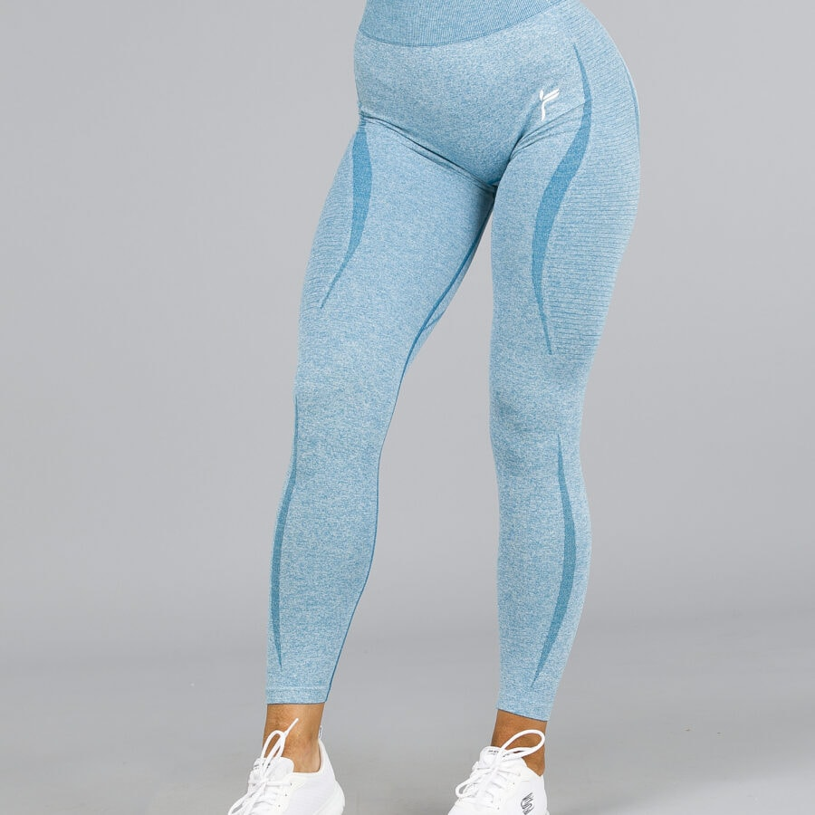 Famme Elevate Vortex High Waisted Leggings Icy Blue