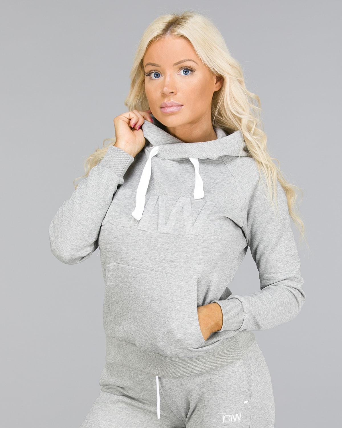 ICANIWILL – Hoodie 3D – Light Grey