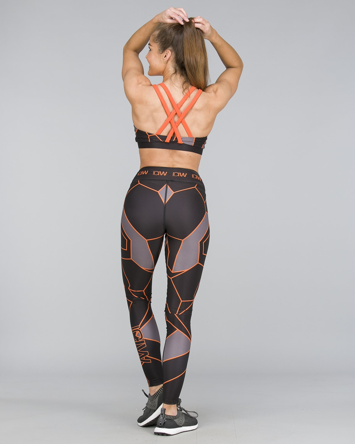 ICANIWILL – Orange Camo Tights b