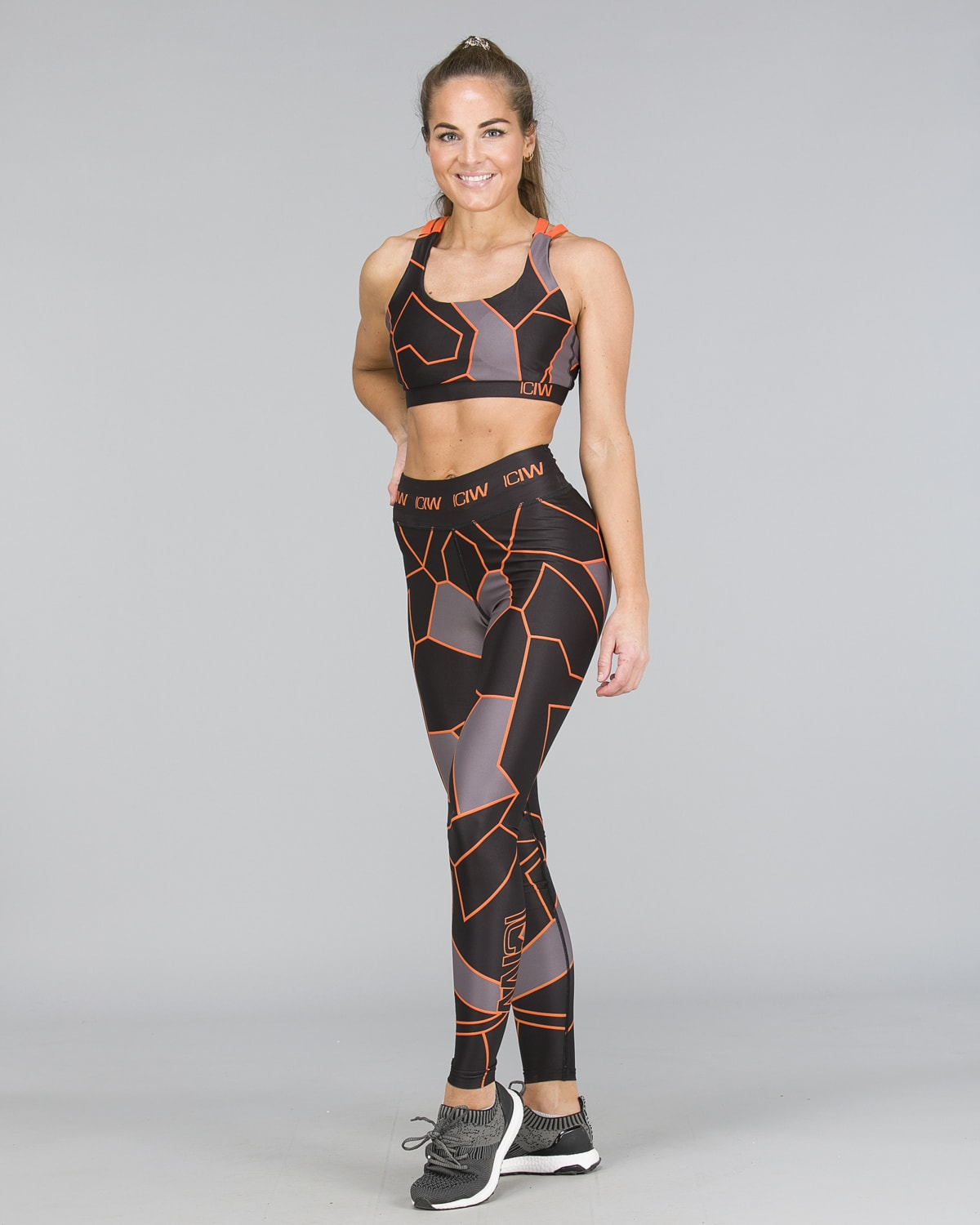 ICANIWILL – Orange Camo Tights c