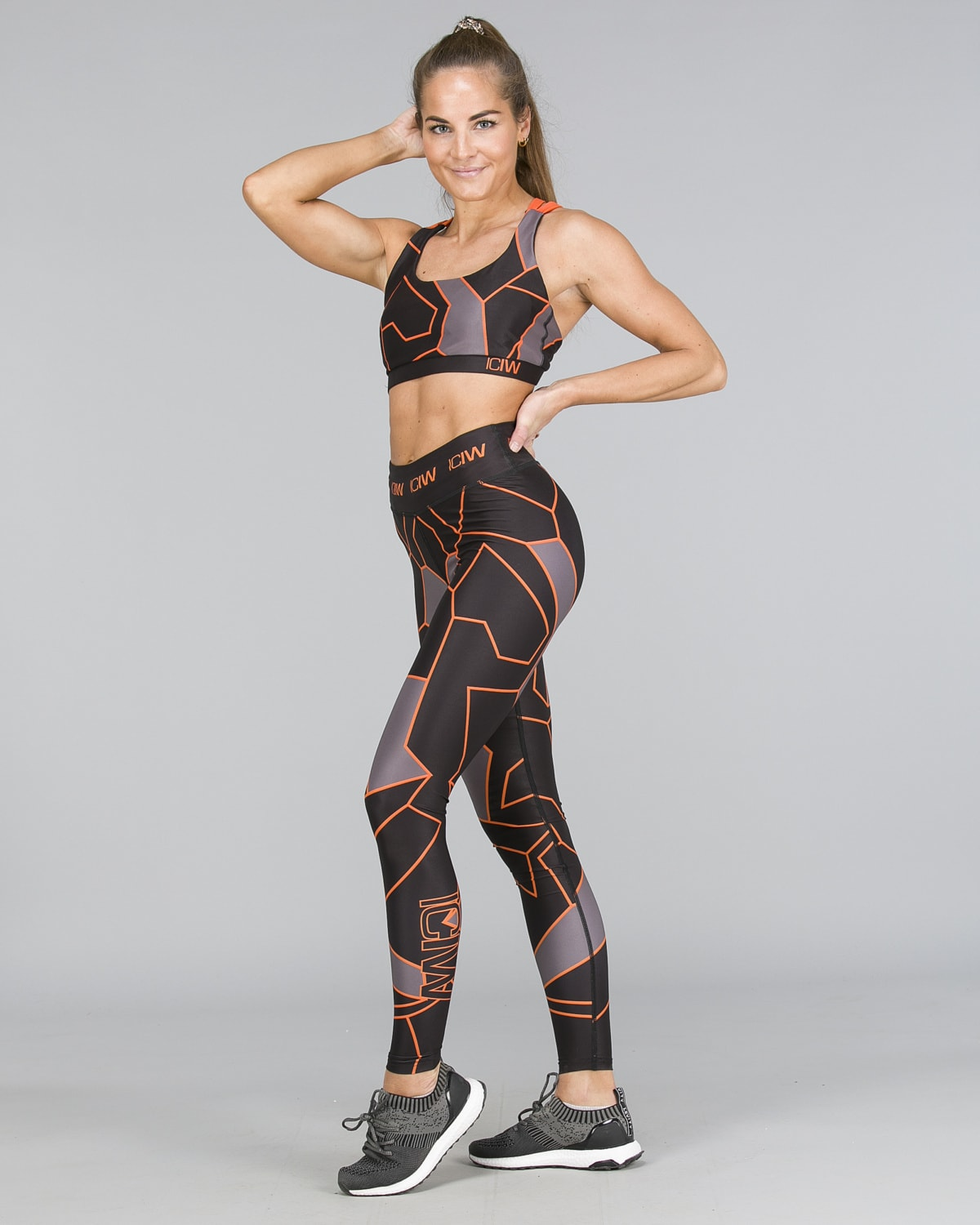 ICANIWILL – Orange Camo Tights h