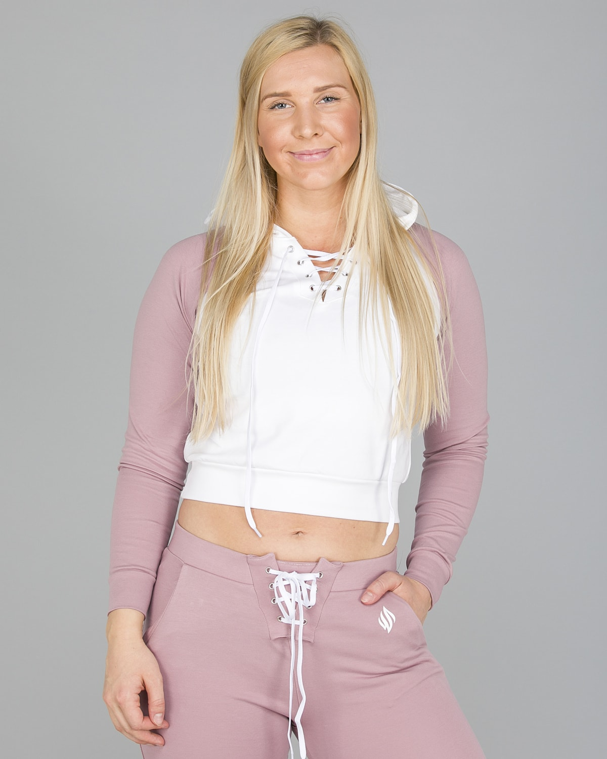 We Are Fit Melrose crop hoodie3