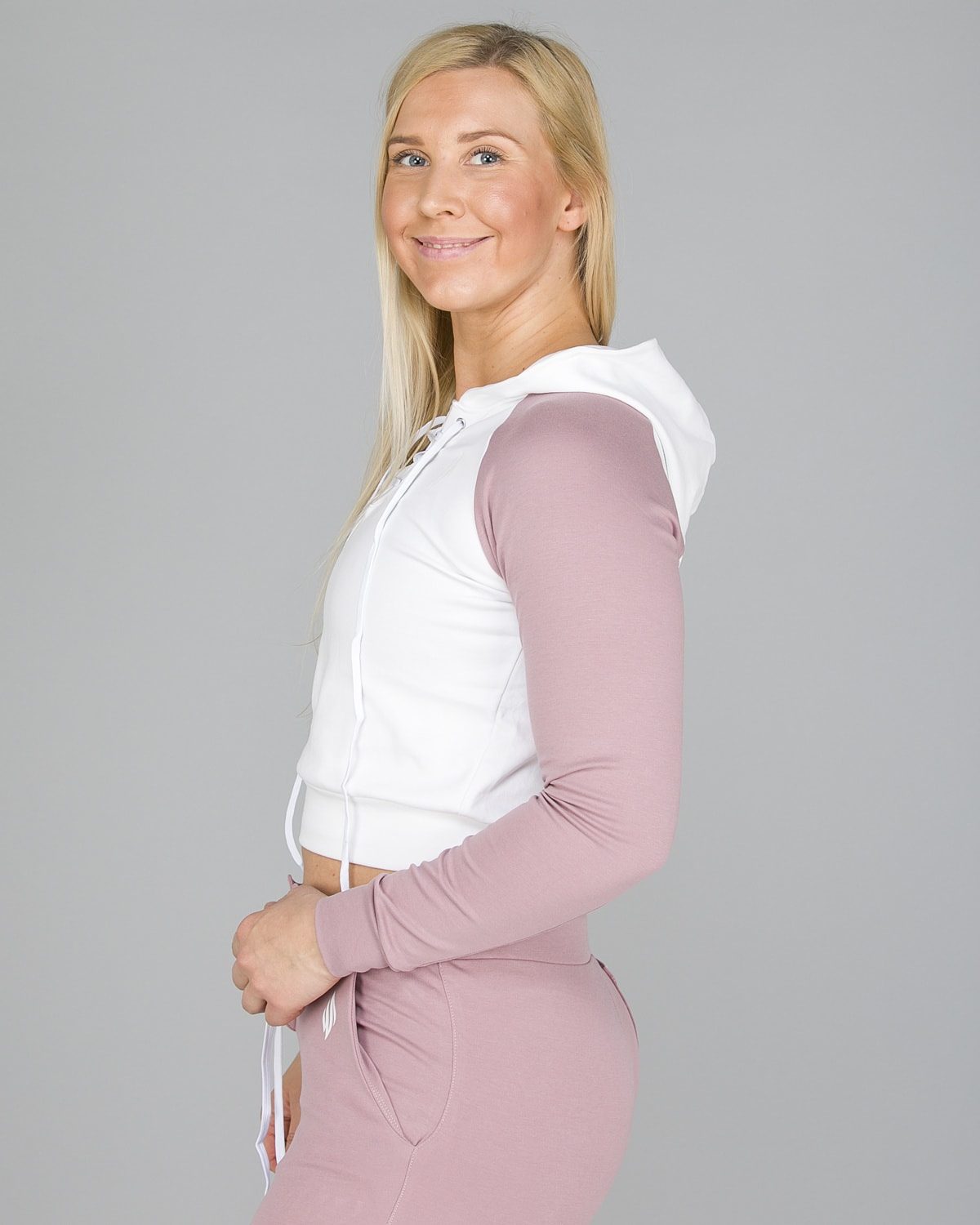 We Are Fit Melrose crop hoodie5