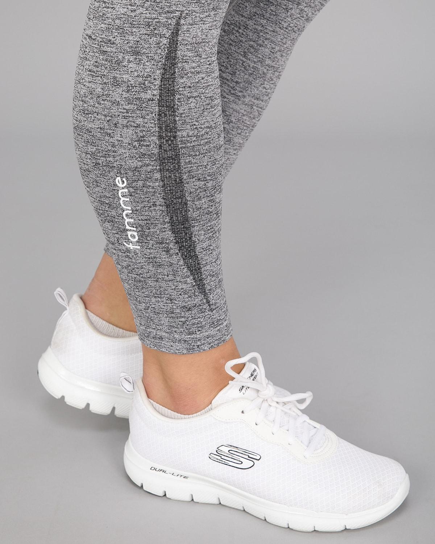 Melange Grey Elevate Vortex Leggings 10
