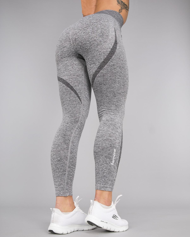 Melange Grey Elevate Vortex Leggings 11
