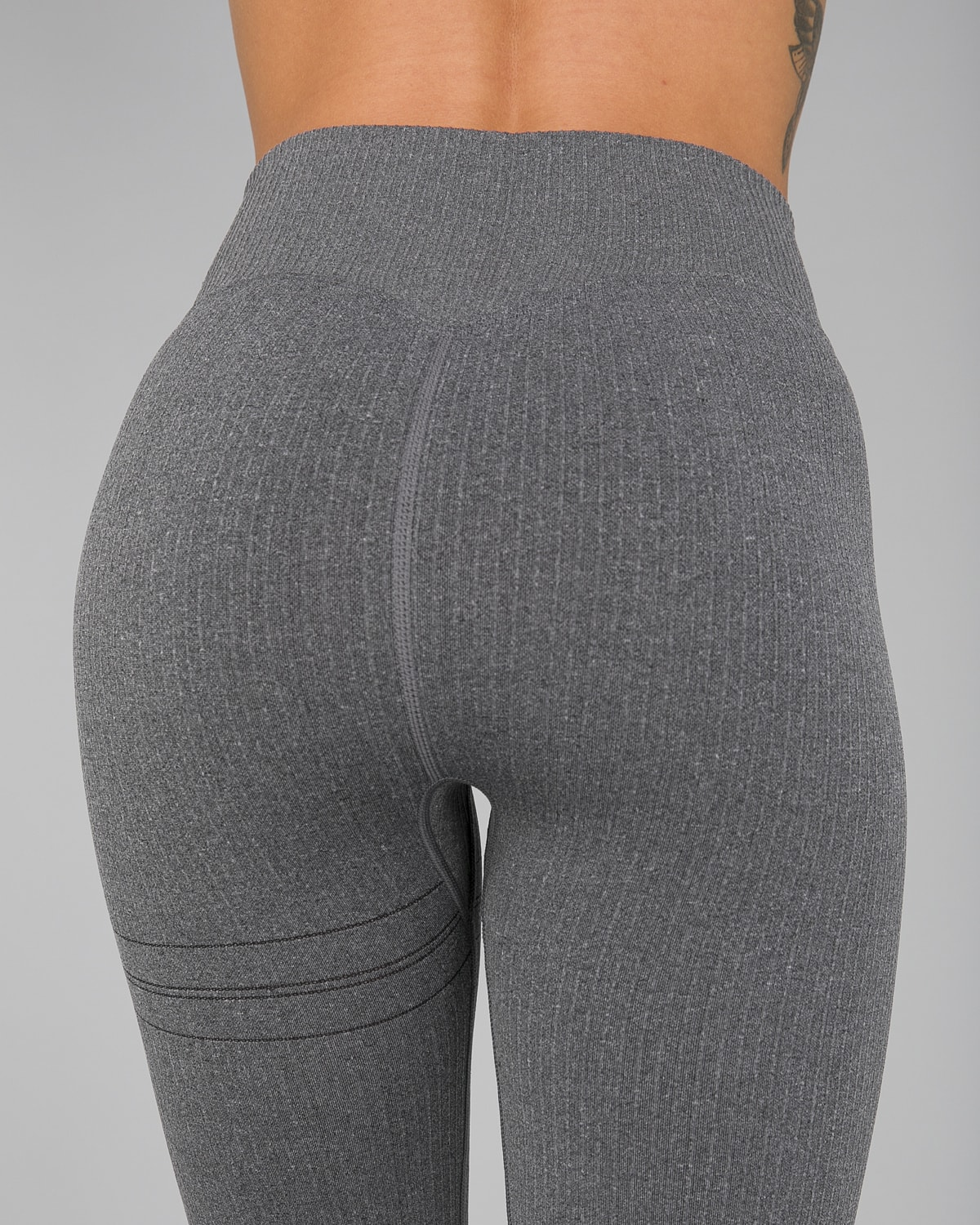 Aim'n Grey Ribbed Seamless Tights11