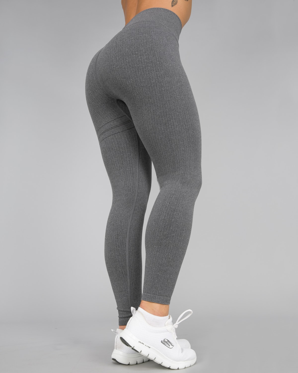 Aim'n Grey Ribbed Seamless Tights12
